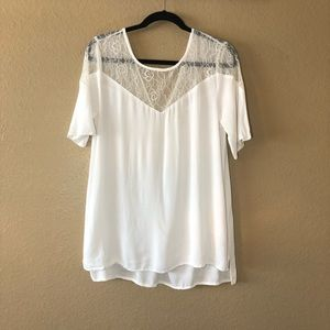 Staring at Stars Lace Neck Top, Size XS